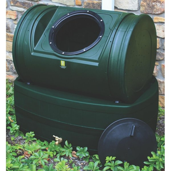 Compost Wizard Hybrid Rain Barrel /Composter / Color (Hunter Green) Best Price