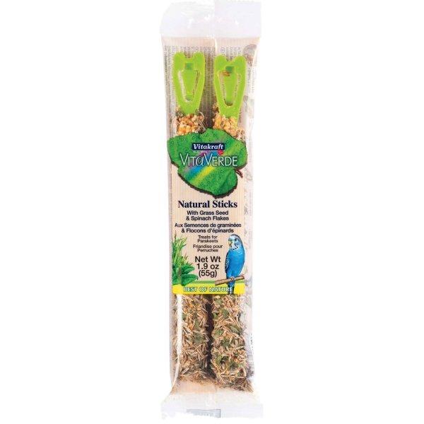 Natural Bird Stick / Flavor Grass Seed