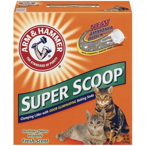 ARM and HAMMER Super Scoop Cat Litter 28 lbs / Type (Fresh Scent) Best Price