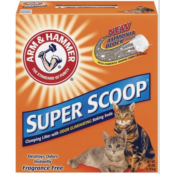 Arm Hammer Super Scoop Cat Litter 28 Lbs / Type Unscented