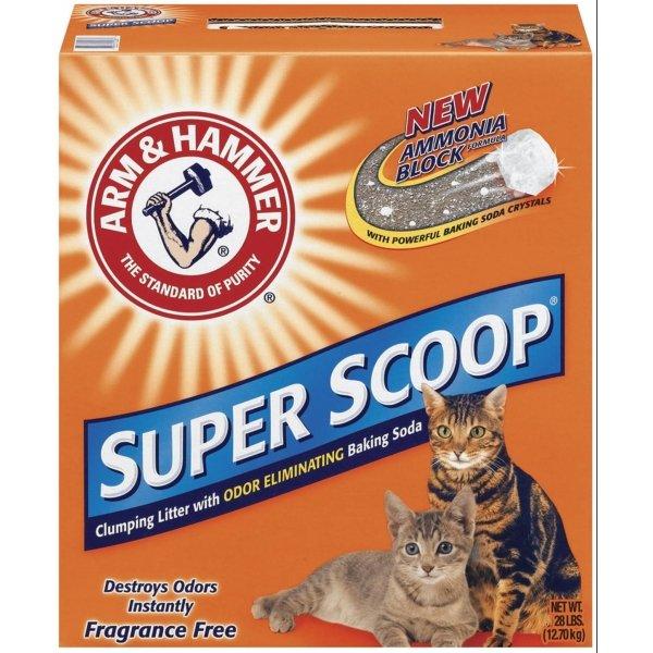 Arm Hammer Super Scoop Cat Litter 28 Lbs / Type Unscented