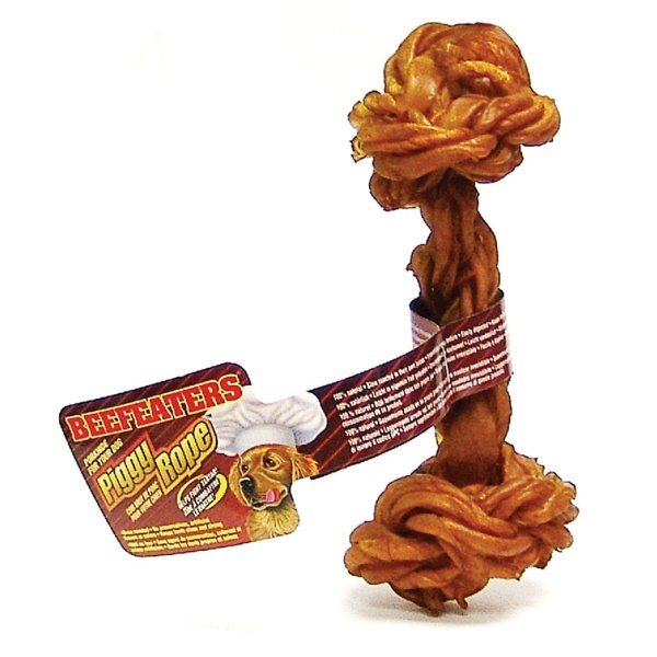 Beefeaters Dog Piggy Rope Bone / Size (7 in. Light) Best Price