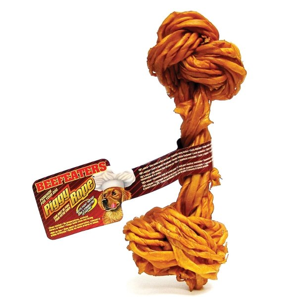 Beefeaters Dog Piggy Rope Bone / Size (9 in Light) Best Price