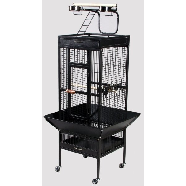 Cockatiel Cage w/ Play Top 18x18x57 in. / Color (Metallic Black) Best Price