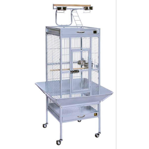 Cockatiel Cage w/ Play Top 18x18x57 in. / Color (Metallic Pewter) Best Price