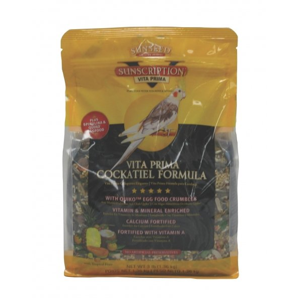 Vita Prima Cockatiel Food / Size (3 lbs.) Best Price