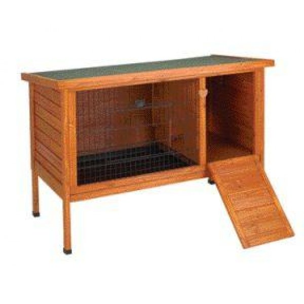 Premium Outdoor Wood Rabbit Hutch / Size Large