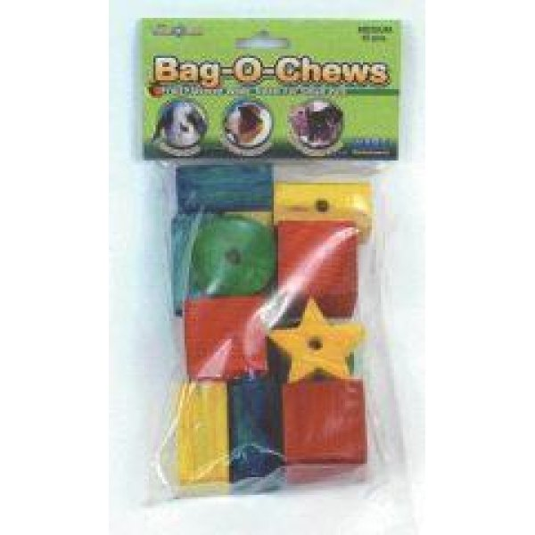 Bag-O-Chews Wood Chew Toys for Small Animals / Size (Medium/12 pc)
