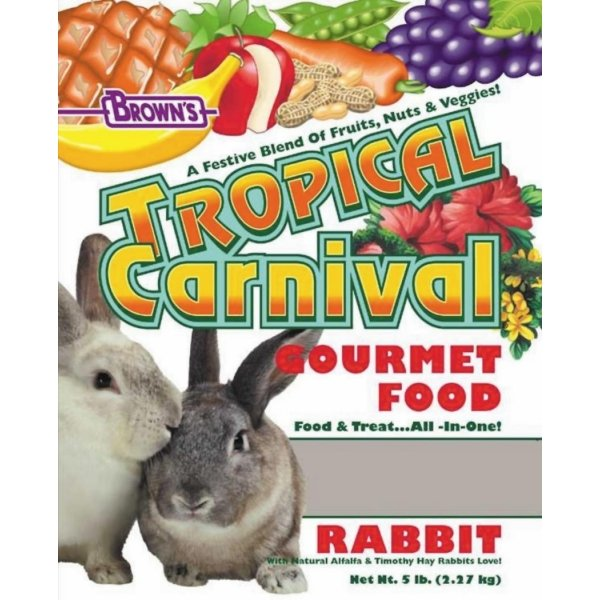 Tropical Carnival Rabbit Food / Size 5 Lbs