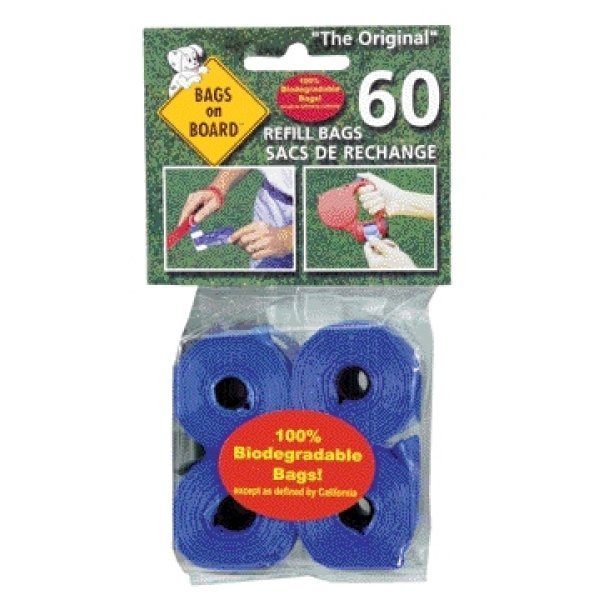 Bags On Board / Size Refill Bags 60 Ct / Blue