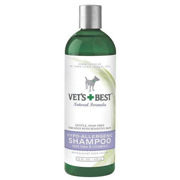 Vets Best Hypo Allergenic Dog Shampoo / Size 16 Oz.