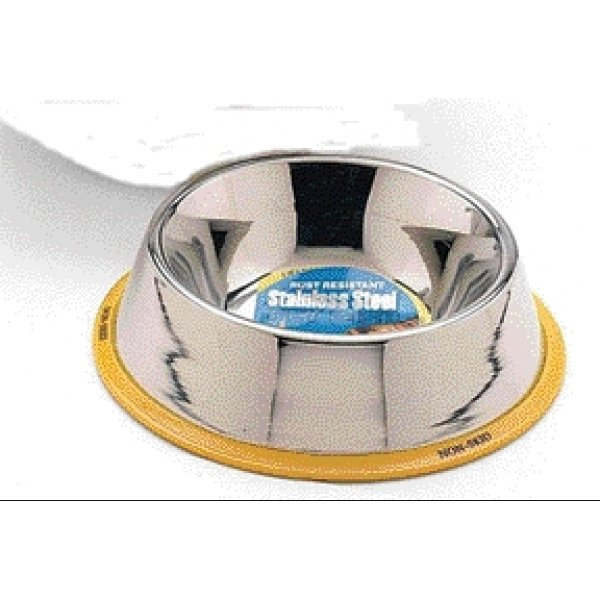Stainless Steel Non Tip Pet Dish / Size 24 Oz.
