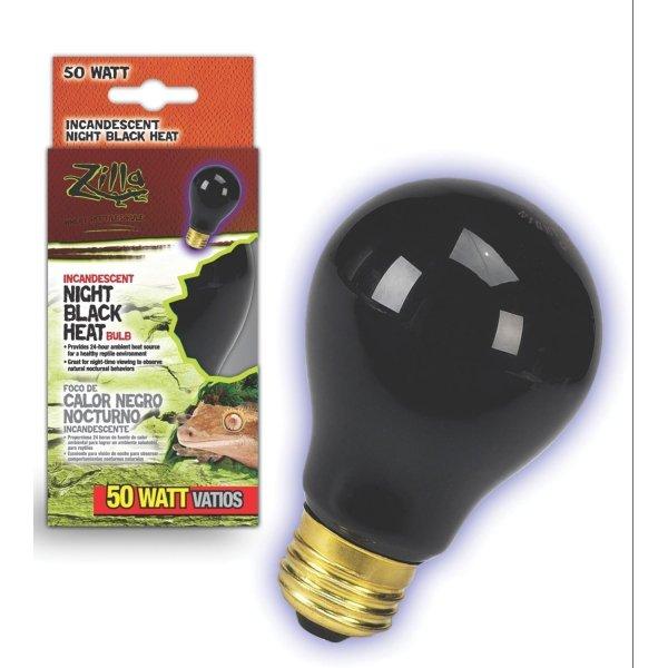 Reptile Incandescent Bulb / Size Night Black 50 Watt