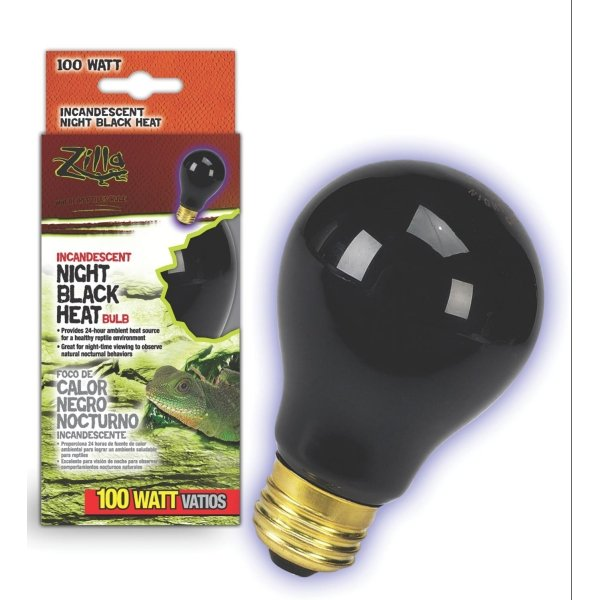 Reptile Incandescent Bulb / Size Night Black 100 Watt