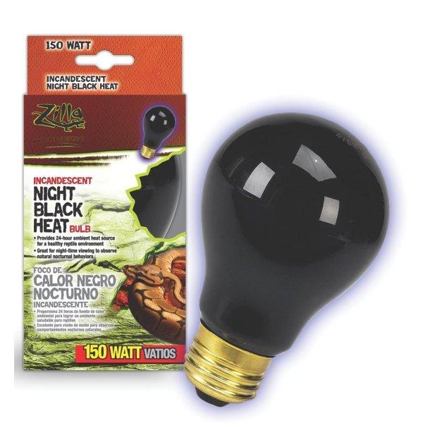 Reptile Incandescent Bulb / Size Night Black 150 Watt