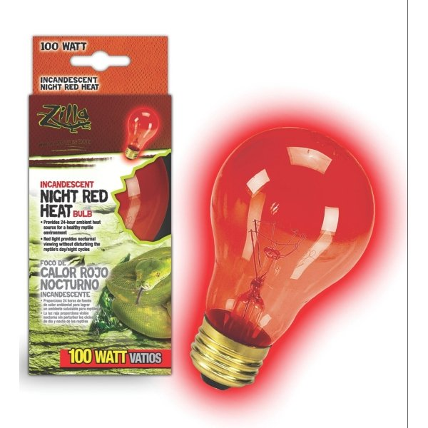 Reptile Incandescent Bulb / Size Night Red 100 Watt