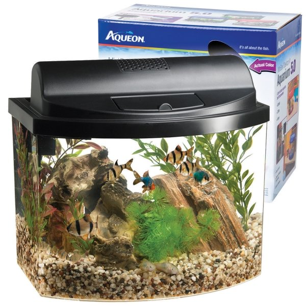 Aqueon Mini Bow Desktop / Size 5 Gal / Black