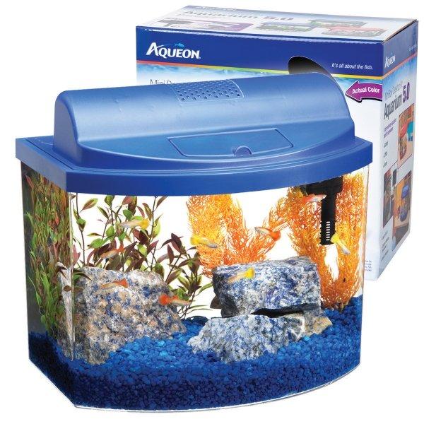 Aqueon Mini Bow Desktop / Size 5 Gal / Blue