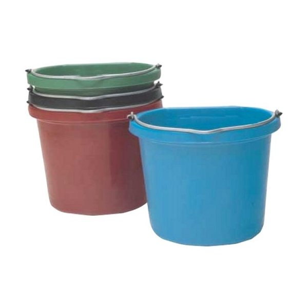 Flat Back 20 quart Bucket / Color (Blue) Best Price