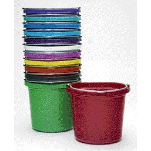 Plastic Utility Pail 8 Qt. / Color Red