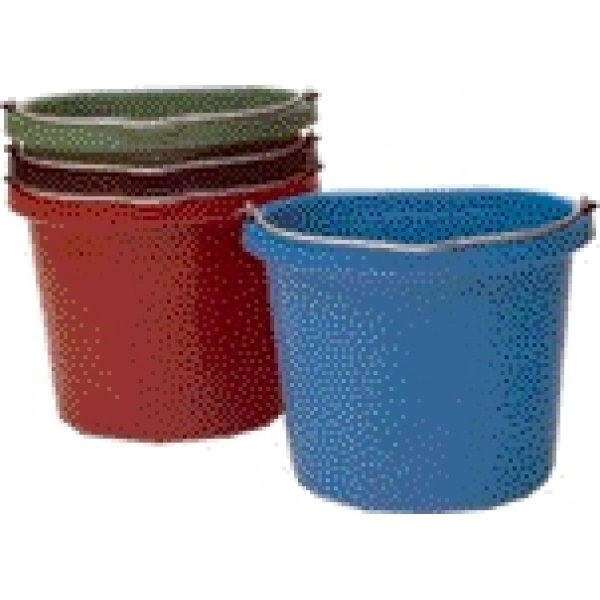 Flat Back 20 quart Bucket / Color (Black) Best Price
