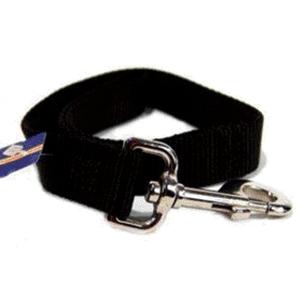 Nylon Dog Leash 1 In. Thick / Size Black 2 Ft