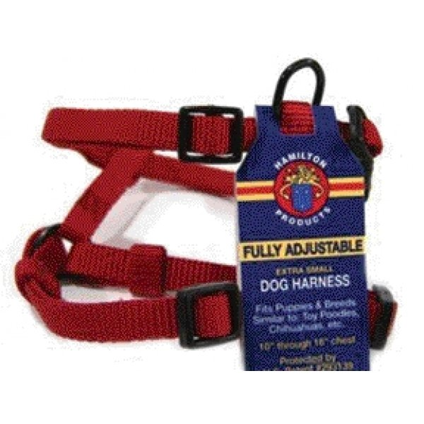 Adjustable Xsmall Comfort Dog Harness / Color Red