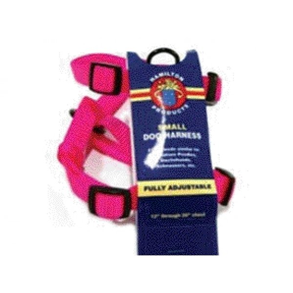 Adjustable Small Comfort Dog Harness / Color Hot Pink