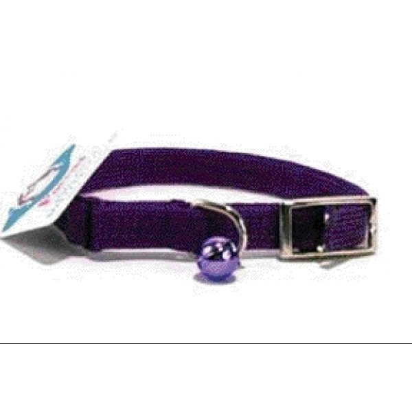 Cat Poppies Snag-proof Collar / Size (Lavendar  3/8 x 10 in)