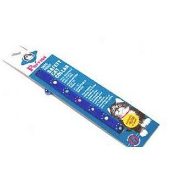 Adjustable Break A Way Safety Glow Cat Collar / Color Blue