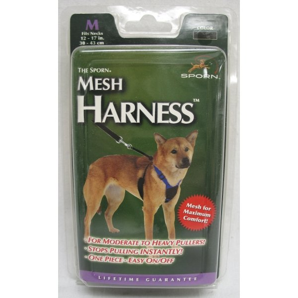 Mesh Anti Pull Dog Harness / Size Medium Black