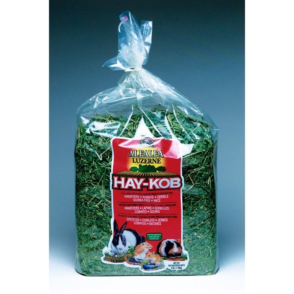 Alfalfa Hay Kobs for Small Pets / Size (3 lbs)