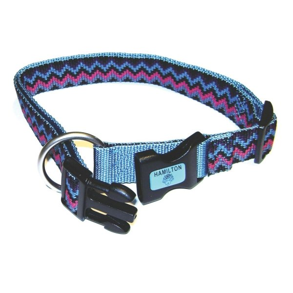 Adj. Weave Style Dog Collar / Size (Ocean / 1 in) Best Price
