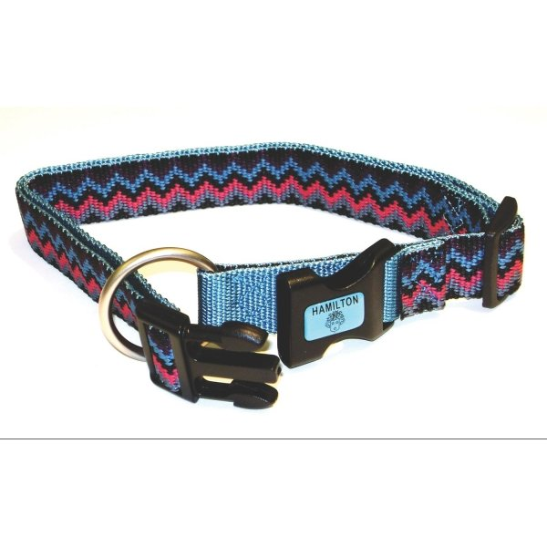 Adj. Weave Style Dog Collar / Size (Ocean / 5/8 in) Best Price