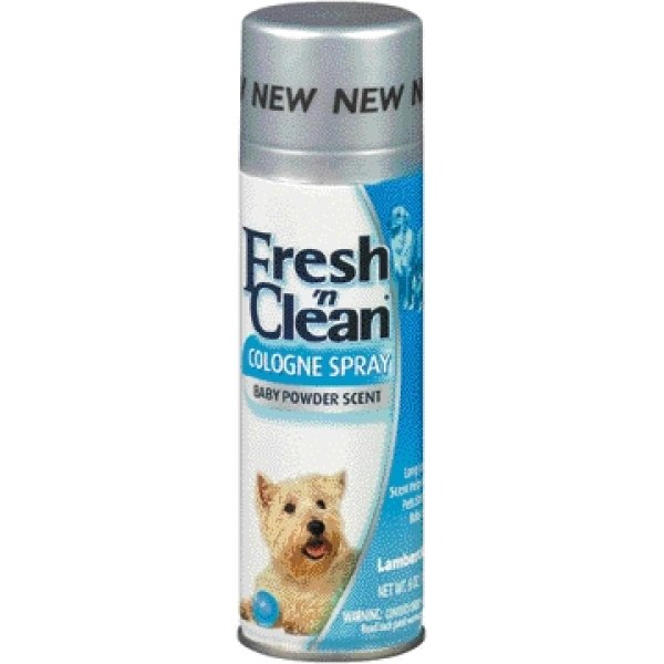 Fresh N Clean Dog Cologne / Size 6 Oz. Baby Powder