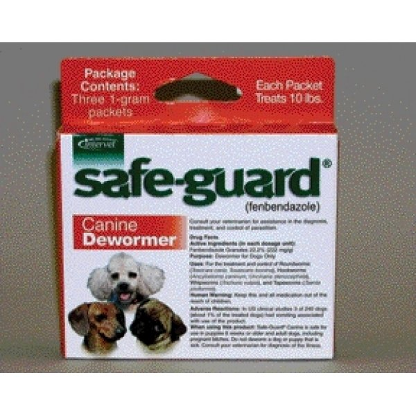 Safe Guard Dog Wormer Fenbendazole Granules / Size 10 Lbs.