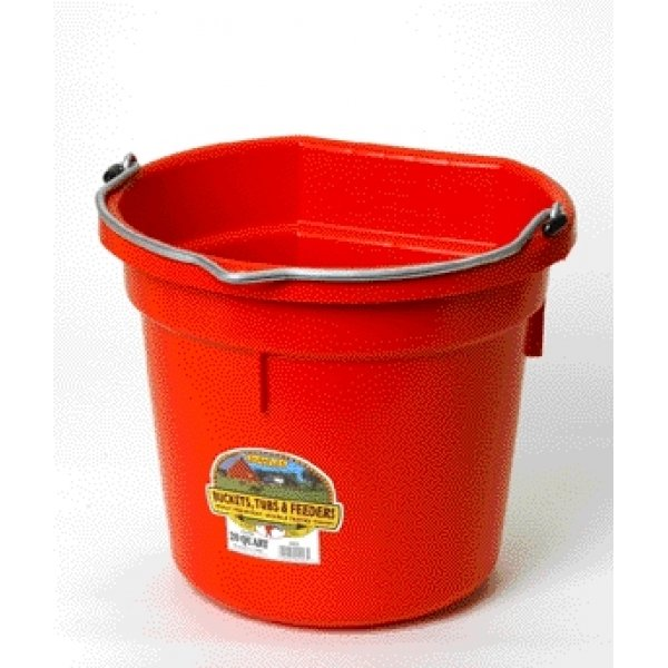 20 Quart Flatback Bucket / Color (Red) Best Price