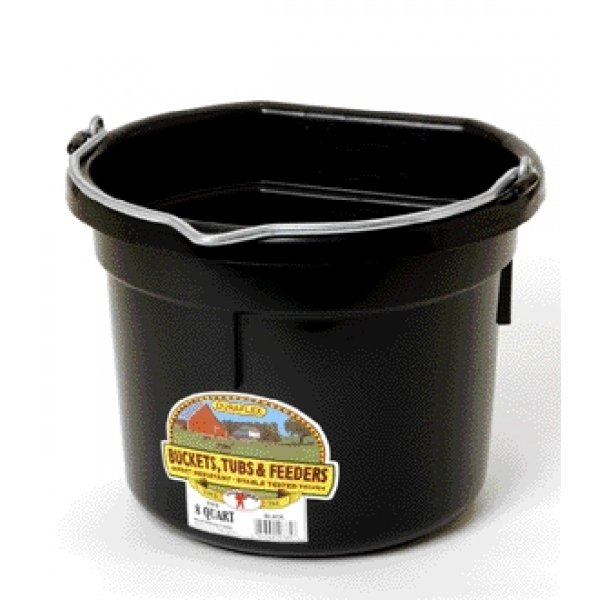 8 Qt. Little Giant Flatback Bucket / Color (Black) Best Price