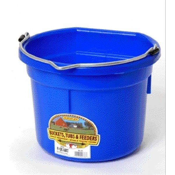8 Qt. Little Giant Flatback Bucket / Color (Blue)