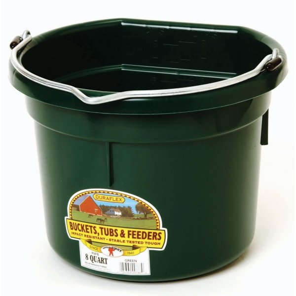 8 Qt. Little Giant Flatback Bucket / Color (Green) Best Price