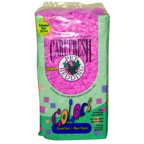 Carefresh Colors Pet Bedding / Color Pink / 23 Liter