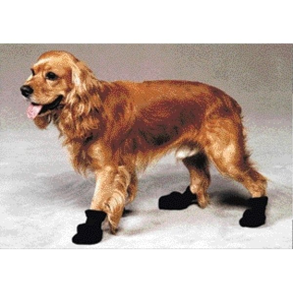 Arctic Fleece Pet Boots - Set of 4 / Size (Medium Black) Best Price