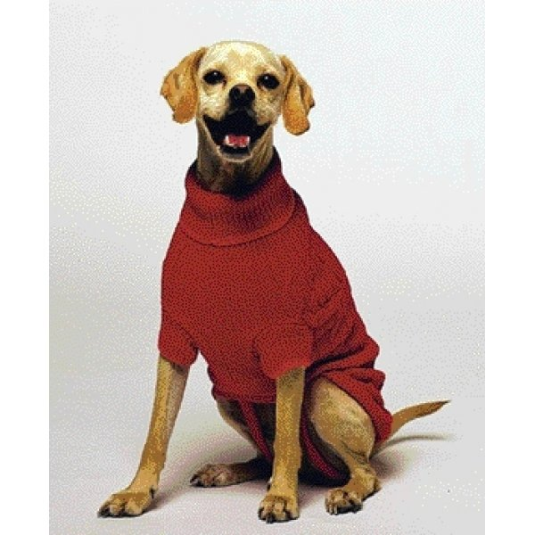 Classic Cable Dog Sweater / Size (Red  Medium) Best Price