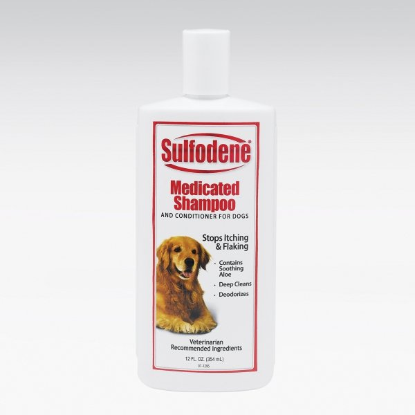 Sulfodene Medicated Pet Shampoo / Size 12 Oz.