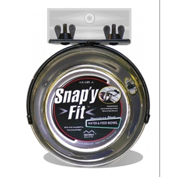 Snap Y Fit Pet Bowl For Crates / Size 1 Qt.