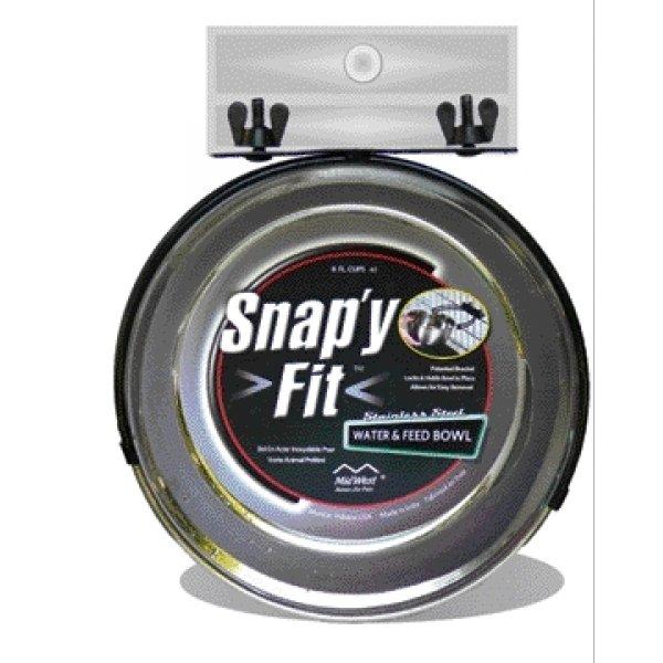 Snap Y Fit Pet Bowl For Crates / Size 2 Qt.