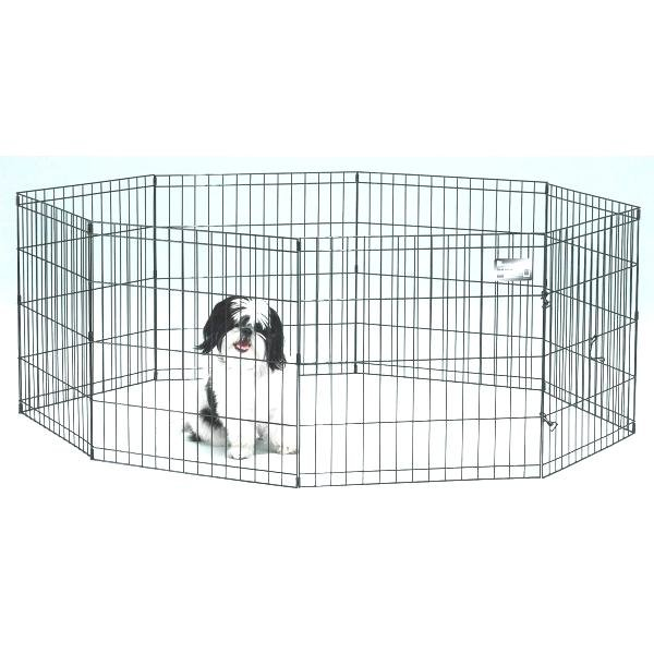 Dog Exercise Pen with Door / Size (24 in.) Best Price