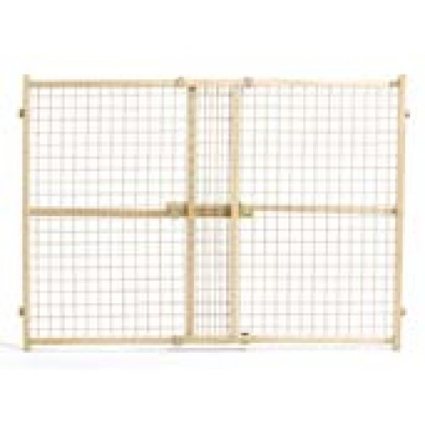 Wood and Wire Mesh Pressure Pet Gate / Size (32 in.)