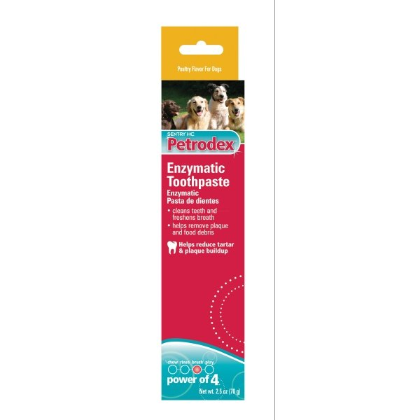 Petrodex Enzymatic Pet Toothpaste / Type Poultry 2.5 Oz