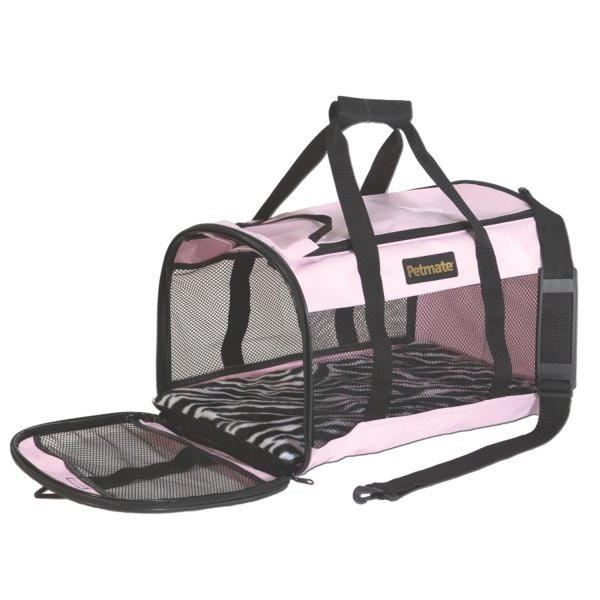 Soft Side Pet Kennel Cab / Size (Large / Pink) Best Price